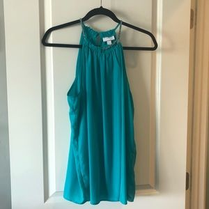 NY&Co teal top- L